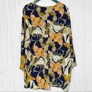 ASOS Floral Long Sleeve Tunic Top Size 10